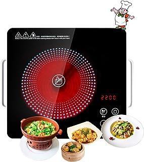 Plaque à Induction Portable,Rechaud Electrique avec Multifonction Chauffe Rapide, Minuteur Régalble, Contrôles Tactiles, C...