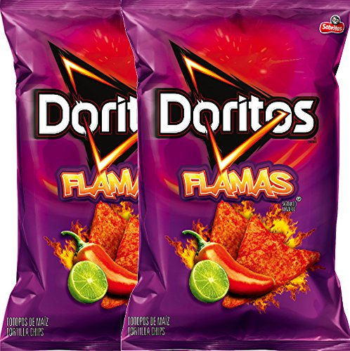 Doritos Flamas Flavored Tortilla Chips Net Wt 10 Oz Snack Care Package (2)