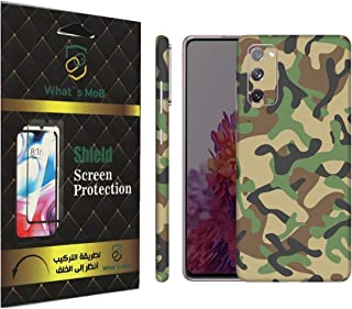 For SAMSUNG Galaxy S20 FE back full skin Green Camo soft felling Hd print by whats mob (Not Cover)
