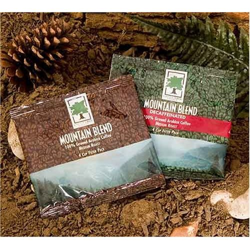 Mountain Blend 4 Cup Filter Pack Coffee (Regular), 125 Pack