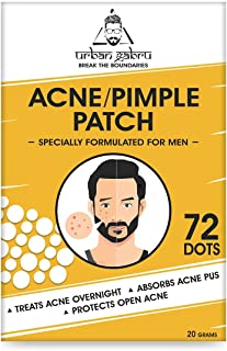 Urbangabru Acne Pimple Patch - 72 Invisible Facial Stickers cover with 100% Hydrocolloid, Pimple / Acne Absorbing patch, a...
