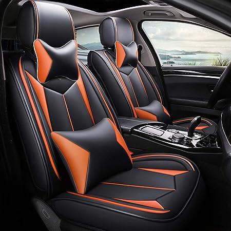 Auto Sitzbezüge Universal Auto Sitzbezug Wasserdicht Leder Auto Sitzkissen Protector Vorne Und Hinten 5 Sitze Full Set Kompatibel For Audi A3 A4 A5 A6 A8 Q3 Q5 Rs4 Auto