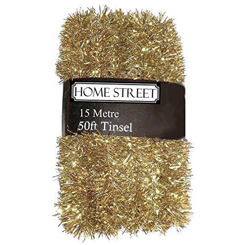 Lametta von Homestreet, extra Lang, verfügbare Farben: Silber, Gold, Rot, 15Meter gold