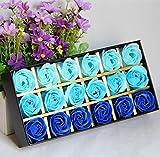 Gearmax® 18 PCS Duft Rose Petal Bath Seife in Geschenkbox für Valentinstag Muttertag Jahrestag...