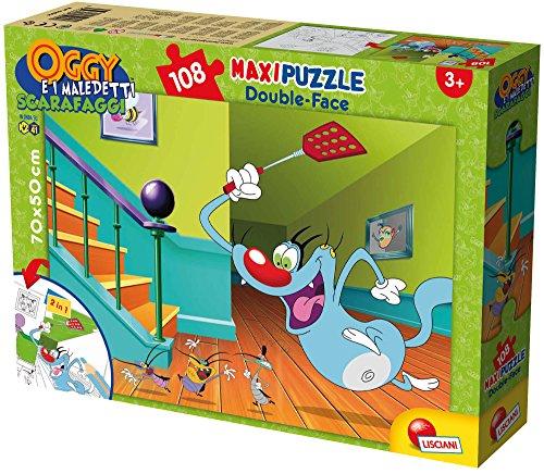 Lisciani Spiele 52844–Puzzle DF Supermaxi Motiv Oggy Oggy und die Kakerlaken, 108Stück, Mehrfarbig