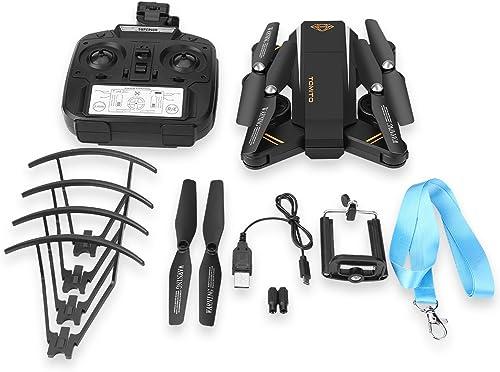 Faltbarer WiFi Drone Spielzeug Quadcopter Headless Modus H  Halten RC Hubschrauber mit 2MP Kamera