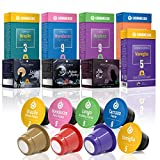 80 Nespresso Compatible Coffee Capsules 100% Fair Trade | Gourmesso Best Seller Bundle | Includes Regular, Lungo and Flavored Espresso
