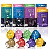 Gourmesso Bestseller Box – 80 Nespresso kompatible Kaffeekapseln – 100 % Fairtrade – Die 8 beliebtesten Sorten in einer Box
