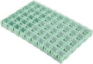 SMT-förvaringslåda, SMT-behållare, förvaringsväska för elektroniska komponenter SMT-låda, 50st Grön behållarbox SMT-förvar...