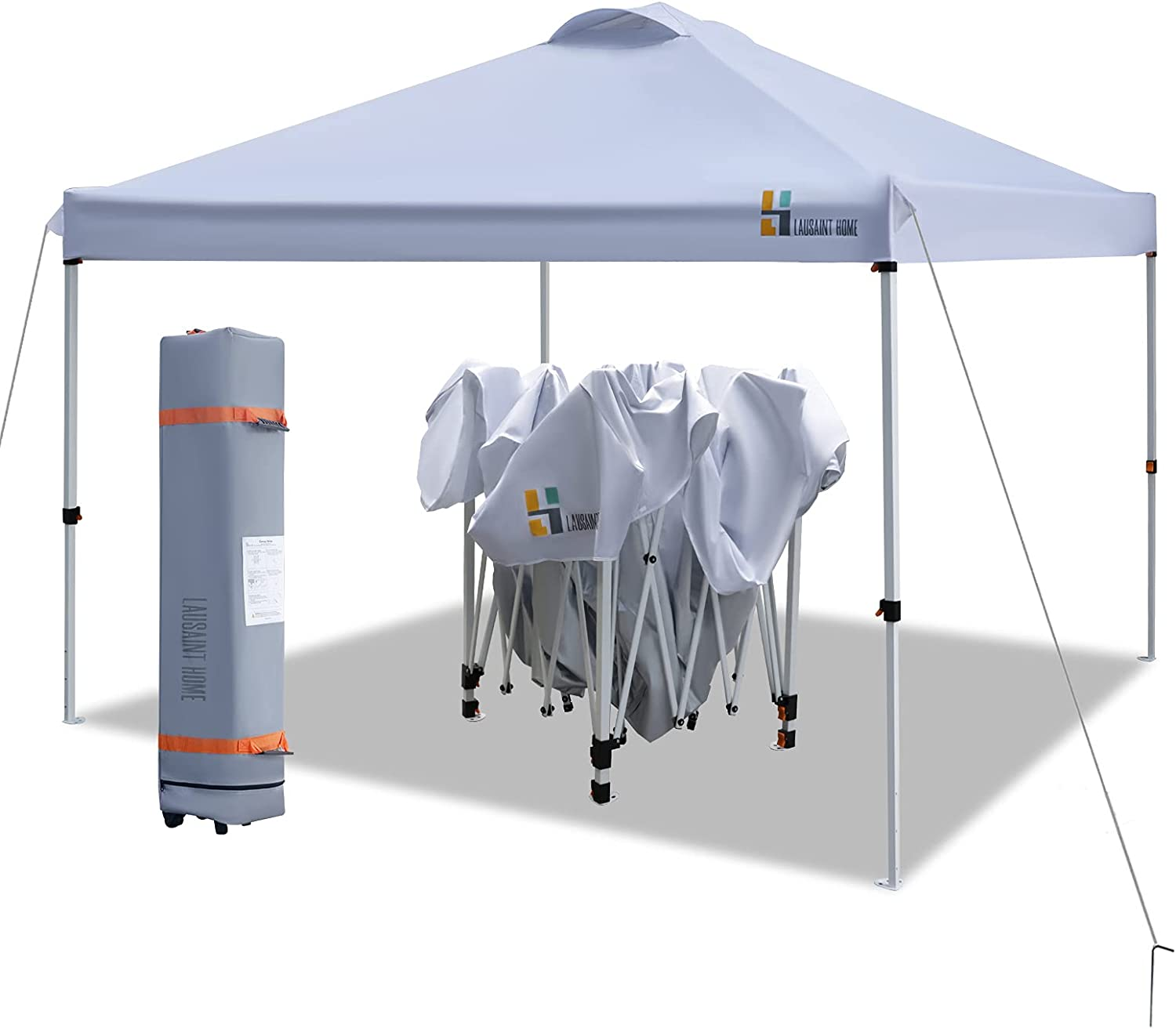 LAUSAINT HOME 10'x10' Pop Up Canopy,Portable Folding Instant Can