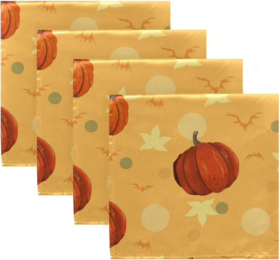 UMIRIKO Ranking integrated 1st place Happy Halloween Bombing new work Pumpkin Cloth Washable Napkin Di Machine