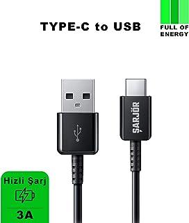 Şarjör Type-C USB Hızlı Şarj/Data Kablosu (120cm) Max 3A (Siyah)