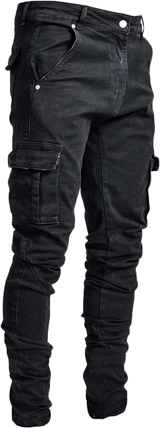 Andongnywell Mens Casual Skinny 25% OFF fit Denim Animer and price revision Jeans Pants wit Barrel