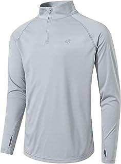 Mens Outdoor Athletic Shirts UPF 50+ UV Sun Protection Long Sleeve T-Shirt