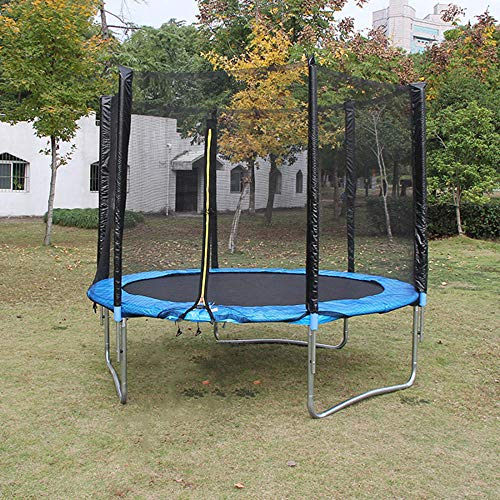 WBXZAL Garden Trampoline Ø1.83M- Garden Trampoline for Children, Outdoor Trampoline, Safety Enclosure with Special Net, Poles, Spring Pad, Ladder, Jumping Mat and Durable Springs, Blue