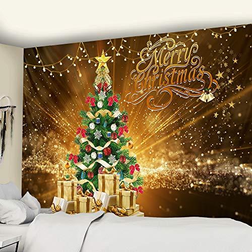 JXWR Feliz Navidad Colgante de Pared Hippie decoración del hogar Tela de Fondo Tapiz Grande decoración Bohemia colchón de Viaje 150x130 cm
