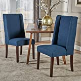 Christopher Knight Home Rory Fabric Dining Chairs, 2-Pcs Set, Navy Blue
