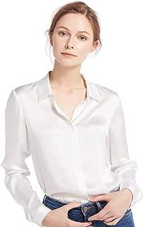 Women's 100 Silk Blouse Long Sleeve Lady Shirt 22 Momme Charmeuse Silk