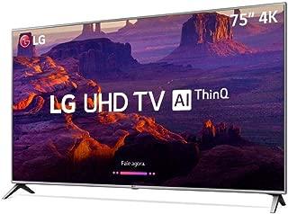 "Smart TV 4K LED 75"" HDR Ativo ThinQ IA IPS 4K Display DTS Virtual X, LG, 75UK6520PSA"