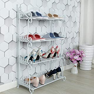XWZH Cabinet de Chaussures Anti-poussière 4-Tier européen européen rosseur de Chaussures de Rangement de Rangement Organis...