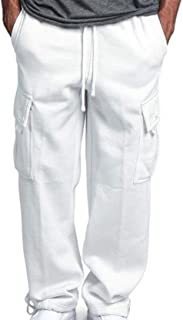 Men's Comfortable Streetwear Trousers Overalls Overalls Overalls Ribbons Versatile wear-Resistant Multi-Pocket Overalls