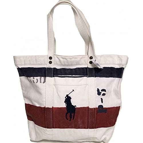 f9f64b1d1f41 Polo Ralph Lauren Cotton Canvas Big Pony Zip Tote Bag (One Size