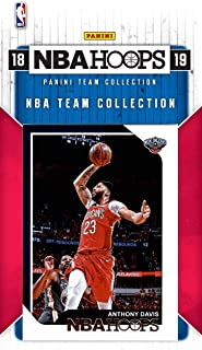 New Orleans Pelicans 2018 2019 Hoops Basketball Factory Sealed 8 Card Team Set with Anthony Davis, Nikola Mirotic and Jrue Holiday Plus