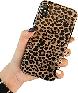 iPhone XR Case, Ebetterr Leopard Print Protective Cover Shell for Girls Women, Matte Slim Fit Shockproof Soft TPU Bumper Flexible Rubber Gel Silicone Case for iPhone XR 6.1