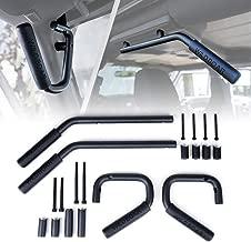 Xprite Black Front & Rear Grab Bar Steel Grab Handle Kit for 2007-2018 Jeep Wrangler JK