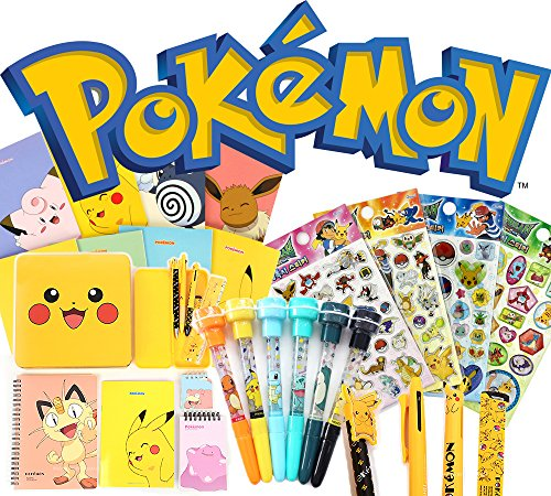 9 Items Pokemon Assorted School Supply Pen Pencil Note Stationery Gift Random Set