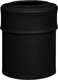 TEES FACTORY 国産 PVC レザー ゴミ箱 pinoco-S ブラック