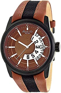 Kenneth Cole For Men Brown Dial Leather Band Watch - KC1764