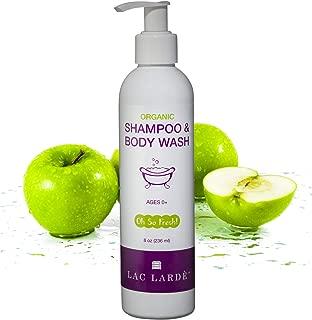 Lac Larde Oh So Fresh! Baby Shampoo and Body Wash Organic Ingredients. Gentle Undiluted Concentrated Formula. Organic Ingredients - Made in USA - Oh So Fresh - 8 oz.