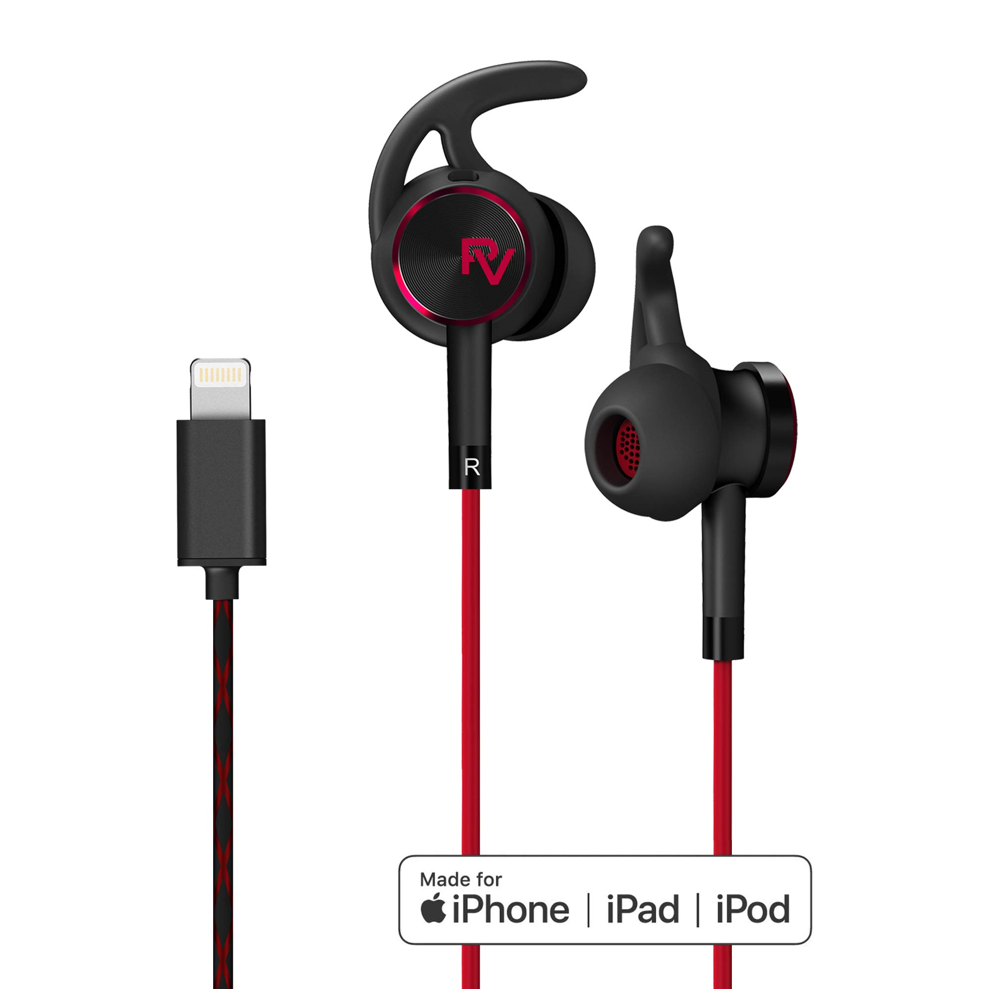 PALOVUE Lightning Mircrophone Headphones Compatible