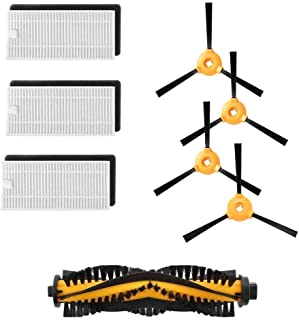 Yonice 1 Brush& 3 Hepa Filters & 3 Side Brushes for Ecovacs Deebot N79 N79S DN620