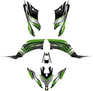 Yamaha Raptor 250 YFM250R Graphics Decal Kit by Allmotorgraphics NO7777 Green