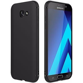EasyAcc Hülle Case für Samsung Galaxy A5 2017, Weich TPU Matte Oberfläche Handyhülle Schutzhülle Schmaler Cover Kompatibel mit Samsung Galaxy A5 2017 / A520 - Schwarz