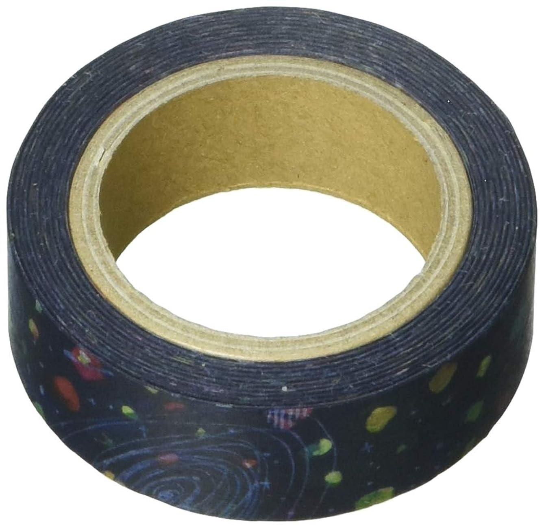 Roundtop Designer's Washi Masking Tape 15mm x 10m, Space Craft Decoration Masking Tape, Space (SC-MK-011)