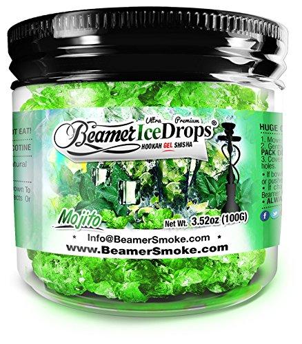 Mojito 100G Ultra Premium Beamer Ice Drops Hookah Shisha Smoking Gel. Each Bowl Lasts 2-4 Hours! USA Made, Huge Clouds, Amazing Taste! Better Taste & Clouds Than Tobacco!
