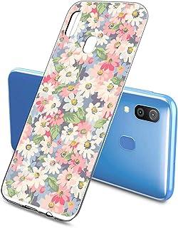 Suhctup Compatible con Samsung Galaxy A8 Plus 2018 Funda Flor de TPU Transparente Diseño de Flores Patrón Cárcasa Ultra Fi...