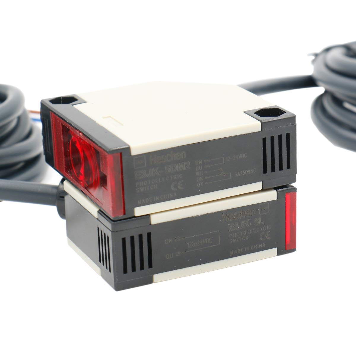 Heschen interruptor fotoeléctrico E3JK-5DM2-5L DC 12-24V tipo bijección distancia de detección 5m