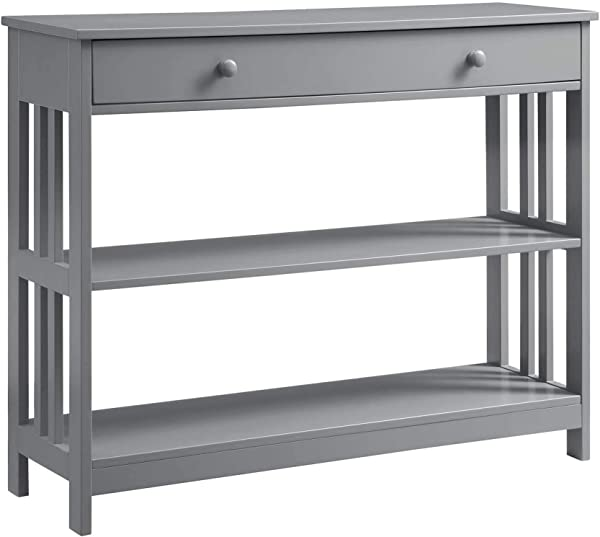 Convenience Concepts 203395GY Mission 1 Drawer Console Table Gray