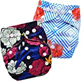 Bembika A Plus Printed Cloth Diapers for Babies, Washable Reusable, Adjustable Sizes
