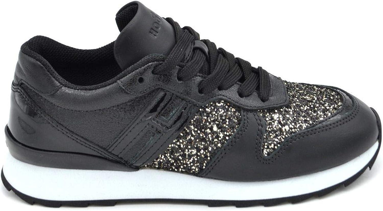 Hogan Women's MCBI37113 Black Leather Sneakers