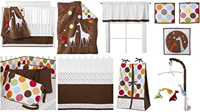 Baby & Me 10 Piece Unisex Crib Set with Bumper Pad 100 Percent Cotton Includes Free Plush Blanket