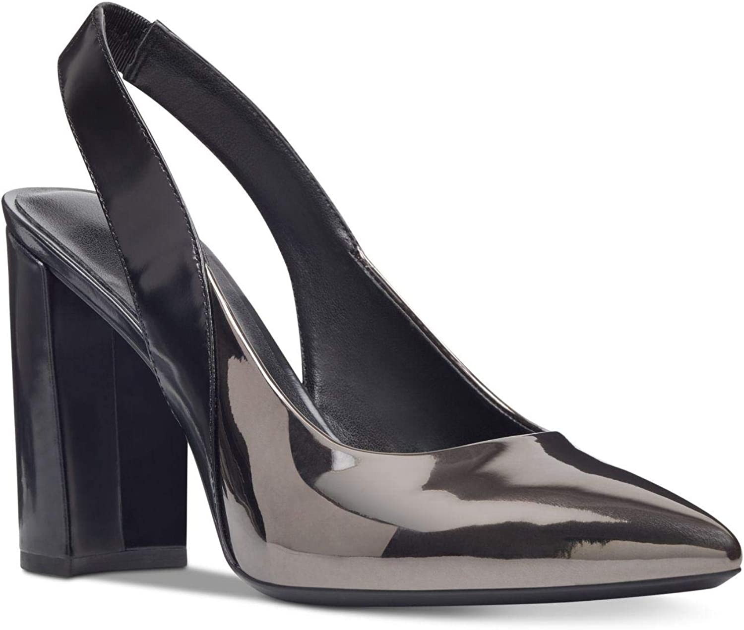 Nine West Womens Arerick Leather Closed Toe Slingback Classic Pumps