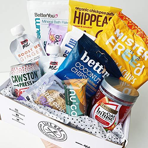 Lifebox - Premium Vegan Snacks & Drinks Box: Gift Hamper | Healthy Gluten-Free treats | Nutritionist-Approved