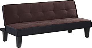"""Major-Q 9057028 66"""" L Transitional Style Cute Modern Sturdy Pink Flannel Fabric Adjustable Sofa Bed"""