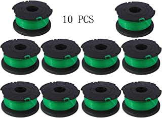 Karen 20ft 0.080 SF-080 Auto Feed Spool Single Line Trimmer Replacement Line, for Black and Decker SF-080 String Trimmer Tool Parts Fit Model GH3000 Replacement String Trimmer Line Spool (10 Pack)