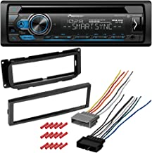 CACHÉ KIT2140 Bundle with Complete Car Stereo Installation Kit with Receiver - Compatible with 2000-2001 Dodge Neon – Single Din Radio Bluetooth CD/AM/FM Radio, in-Dash Mounting Kit (4Item)